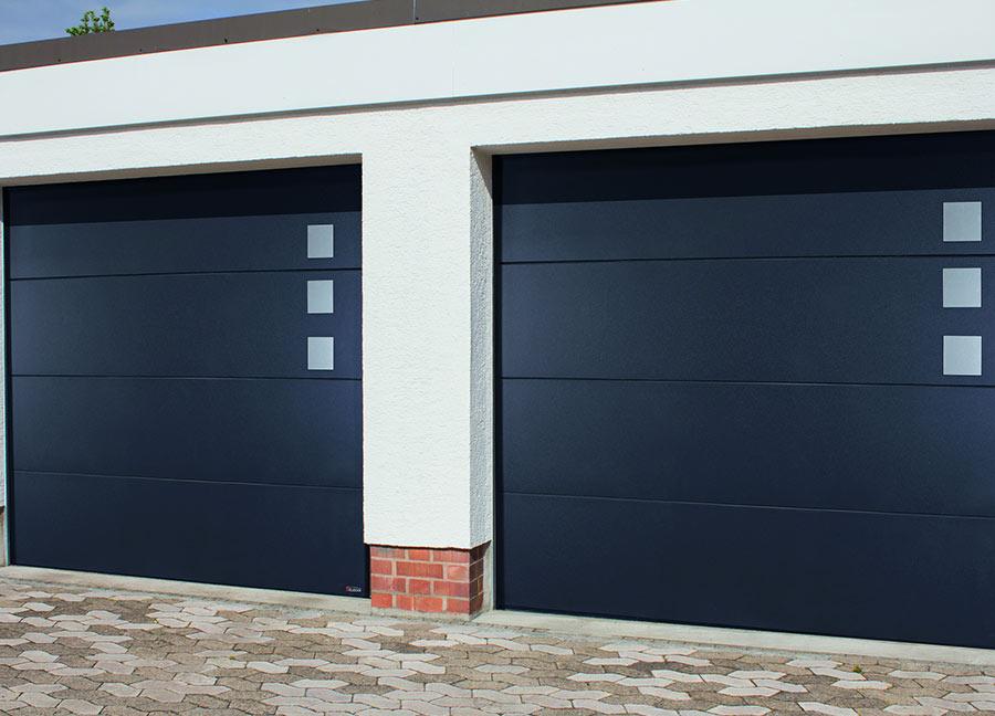 porte de garage en aluminium le style m tal pour tous magazine les ateliers du bois. Black Bedroom Furniture Sets. Home Design Ideas