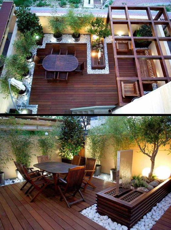 Terrasse bois esprit zen