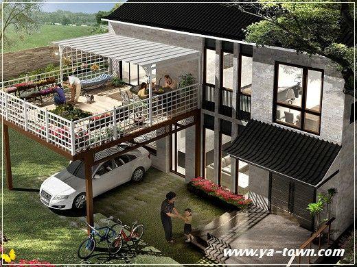 Terrasse et carport